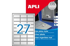 LABELS APLI N.10070 63,5x29,6 SILVER